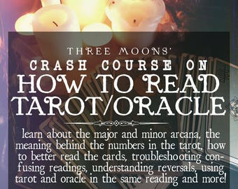 How to Read Tarot/Oracle Crash Course