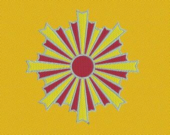 Embroidery japanese crest kamon asahiko