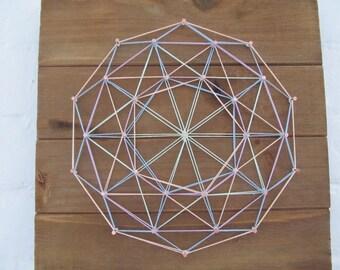 Colorful Geometric String Art - Free Shipping