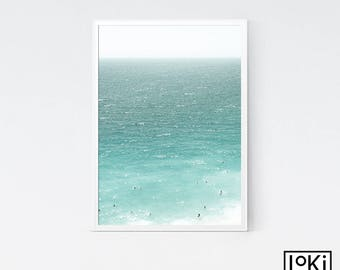 Aerial Sea Print, Beach Large Print, Sea Photo Print, Beach Poster, Beach Print, Beach Poster Art, Sea Poster, Sea Print, Nautical Wall Art