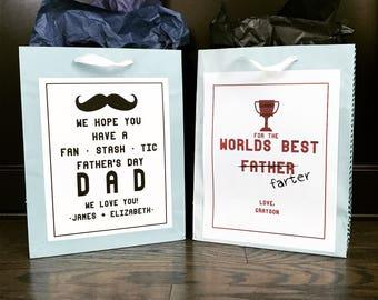 Father's Day Personalized Prints, Father's Day, Gift Bag Prints, *Digital File*