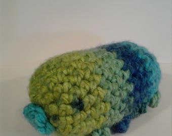 Crochet tardigrade- blue and green