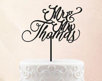Mr & Mrs Wood Cake Topper - Wedding Cake Topper - Wedding Cake Topper Rustic Cake Toppers for wedding, Custom Cake Toppers for Wedding 27