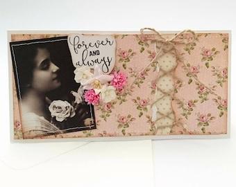 Card, vintage card, romantic card, love card, congratulations card