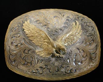 Western Flying Eagle Cowboy Belt Buckle