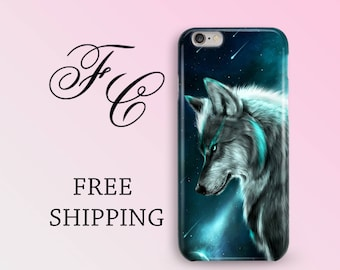 Wolf Phone Case for iPhone 5 Wolf iPhone Case iPhone X Case iPhone 6 Case iPhone SE Protective iPhone Case iPhone 7 Plus Personalized cic