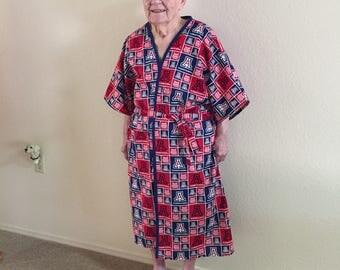 University of Arizona Wrap Around Robe.  FREE SHIPPING.  Sizing options:  Small/Medium, Large/XL, or  1X.