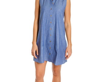 CARRIGAN - organic cotton chambray dress