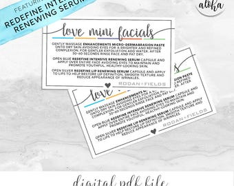Rodan and Fields Mini Facial Card Digital File | Square Heart