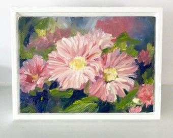 "Floral Painting-Mini Painting- ""Joy""- 5x7 inch Original Oil Painting"