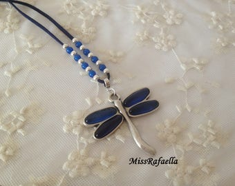 Blue Dragonfly Necklace.