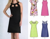 NEW LOOK 6429 sewing pattern.  Dress pattern.  Size 10 - 22.  New.  Uncut.  Factory folded.
