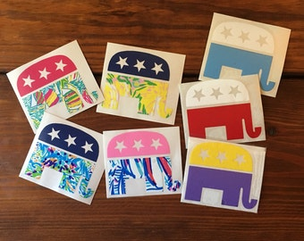Republican Elephant Decal FREE SHIPPING