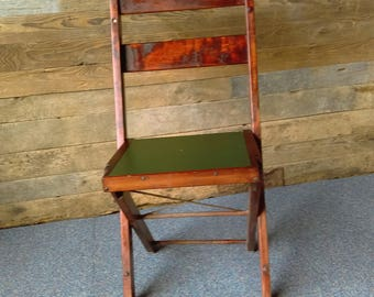 vintage wood folding chair
