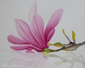 """Original Watercolor """"Magnolia"""""""