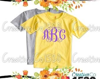 Vine Monogram T-Shirt | Custom Tee |  T-Shirt With Sayings | Tees | Lettered T-Shirt | T-Shirts | Custom Shirt | Tops | Monogrammed Tee