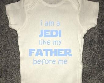 The Jedi Bloodline Onesie |Jedi Onesie | Star Wars Onesie | Funny Onesie | Baby Onesie |  Baby Clothing |
