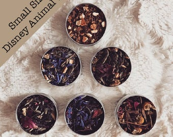 Disney Animals Teas Small | Simba, Nemo, Stitch, Winnie the Pooh, Mushu, Cheshire Cat | Lion King, Mulan, Alice in Wonderland | Loose Leaf