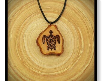 "Soul slices ""Maori, Polynesian, Tiki 2"" wood necklace, vintage * Ethno * hippie * MUST have * statement *"