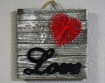 Love & Heart String Art