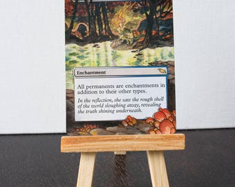 Enchanted Evening with Copper Leaf: MTG Hand-Altered Card