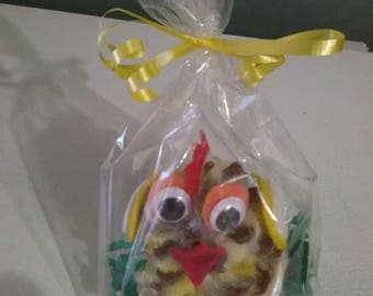 Pinecone Easter chicken