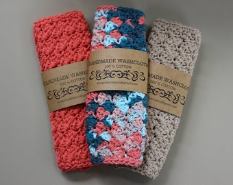 100% Cotton Washcloths / Dishcloths