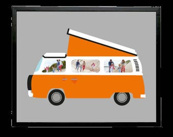 VW Campervan Aperture Art