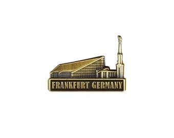 Frankfurt Germany Temple Gold Pin - LDS Gifts