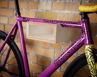 EU-wide FREE SHIPPING | Wooden bike rack | Bike shelf | Bicycle storage. Fixie | Racing bike | Mountain bike