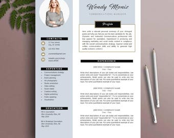 Resume Template, CV Template, instant download, MS Word