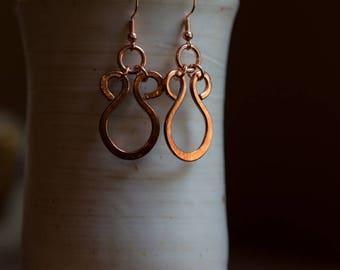 Copper Harp Earrings 12 ga. Free U.S. Shipping. Handmade