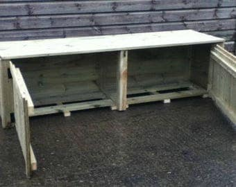 Storage Bench With Doors To Front