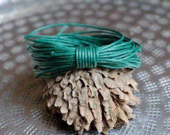 Waxed Cotton Cord, Pine Green