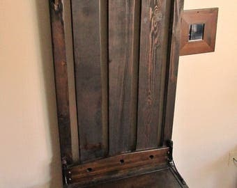Compact Entryway Bench, Hall Tree, Shoe Storage - Espresso - Local Pick Up Only