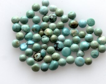3MM Natural Round Turquoise Cabochon Gemstone AAA High Quality Gemstones