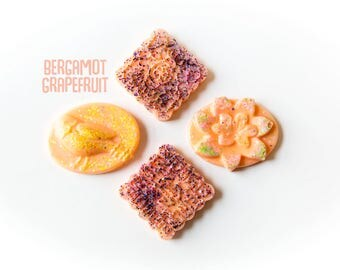 Bergamot Grapefruit (5.5 Oz.) - Citrus Scented Wax Melts - Handmade Wax Melts - Scented Wax - Fragrances - Grapefruit - Bergamot - Wax