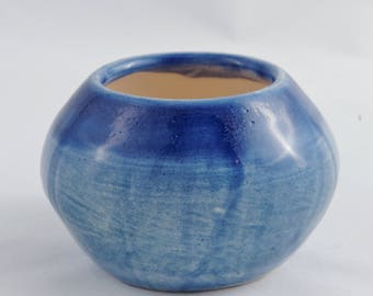 Blue Vase with yellow bottom