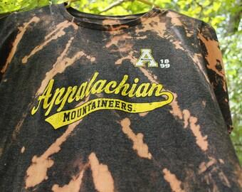 App State Shirt, Appalachian State T Shirt, Mountaineers T Shirt, Bleach Tie Dye App State T Shirt, Mountaineers t shirt