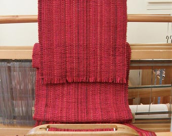 Red Mix Handwoven Table Runner