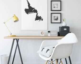 Newfoundland Labrador Print, Map, Canada Day, Canadian Decor, Canada Decor, Modern Map Art, Home Decor, Province Print, Wall Art, Canadian