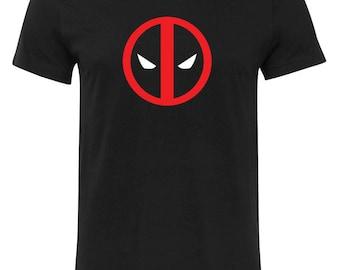 Deadpool Logo Superhero Super Hero Comic Book Movie New Mens Black T-Shirt