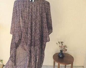 Sheer Purple Boho Kimono