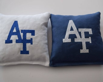 Air Force AF Emboidered Regulation Cornhole Bags - Set of 8, Sweet!