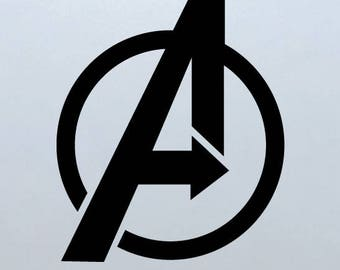 Avengers Assemble Wall Sticker Vinyl Decal, Avengers Logo