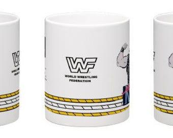 WWF WWE Macho King Randy Savage Retro Wrestling Mug Kilncraft Style Custom Series 2