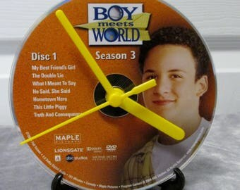Boy Meets World DVD Clock Upcycled TV Show - Cory