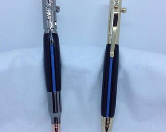 Police pen, thin blue line