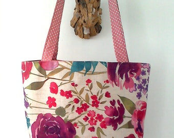Floral print Tote Bag, beach bag,shopping bag