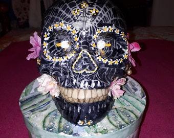 Human Skull Decoration